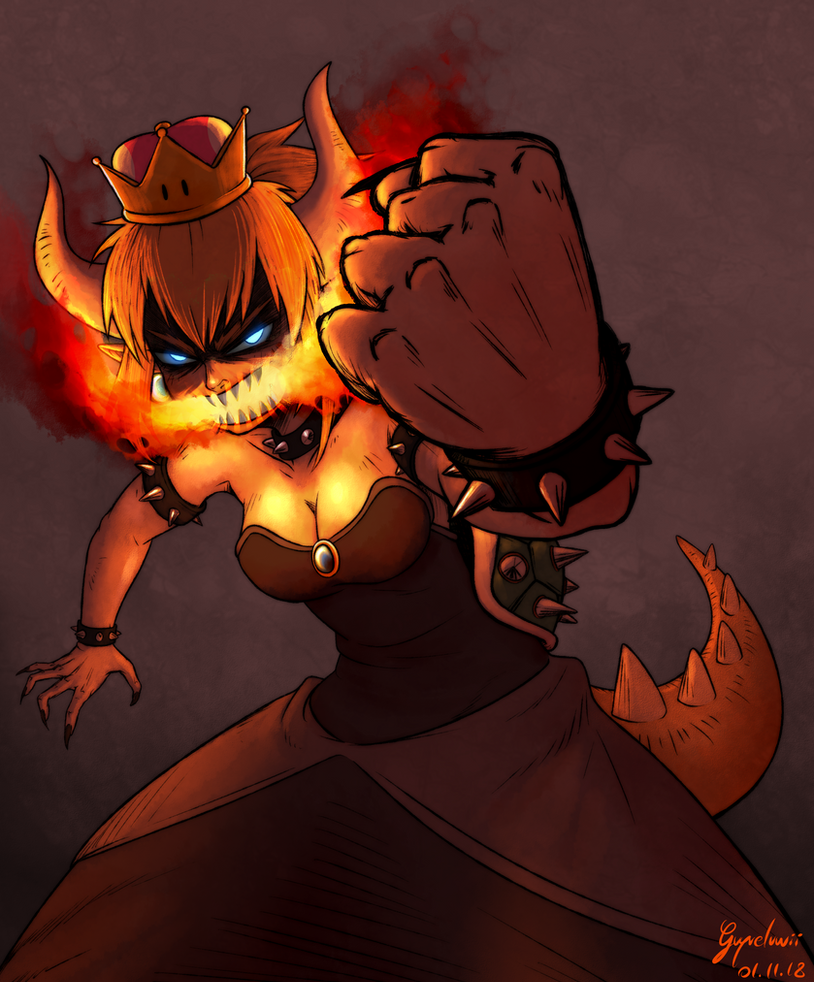 Bowsette by Guyveluwii