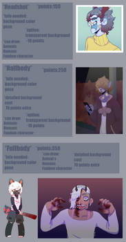 Commission Sheet 2018/2019 !!(Closed)!! by VirgoXO
