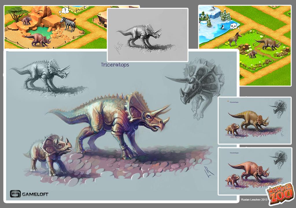 Triceratops (concept) by KhajiitSawyer