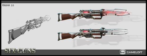 Concept of weapons. Six-Guns by KhajiitSawyer