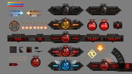 Angels vs Demons Slot Game UI by KhajiitSawyer