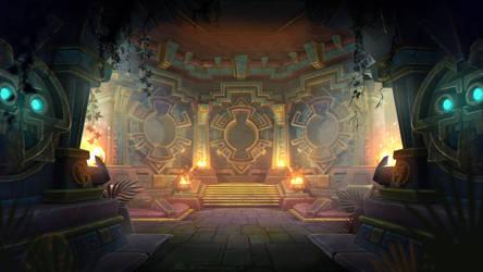 Aztec Hall Art by KhajiitSawyer
