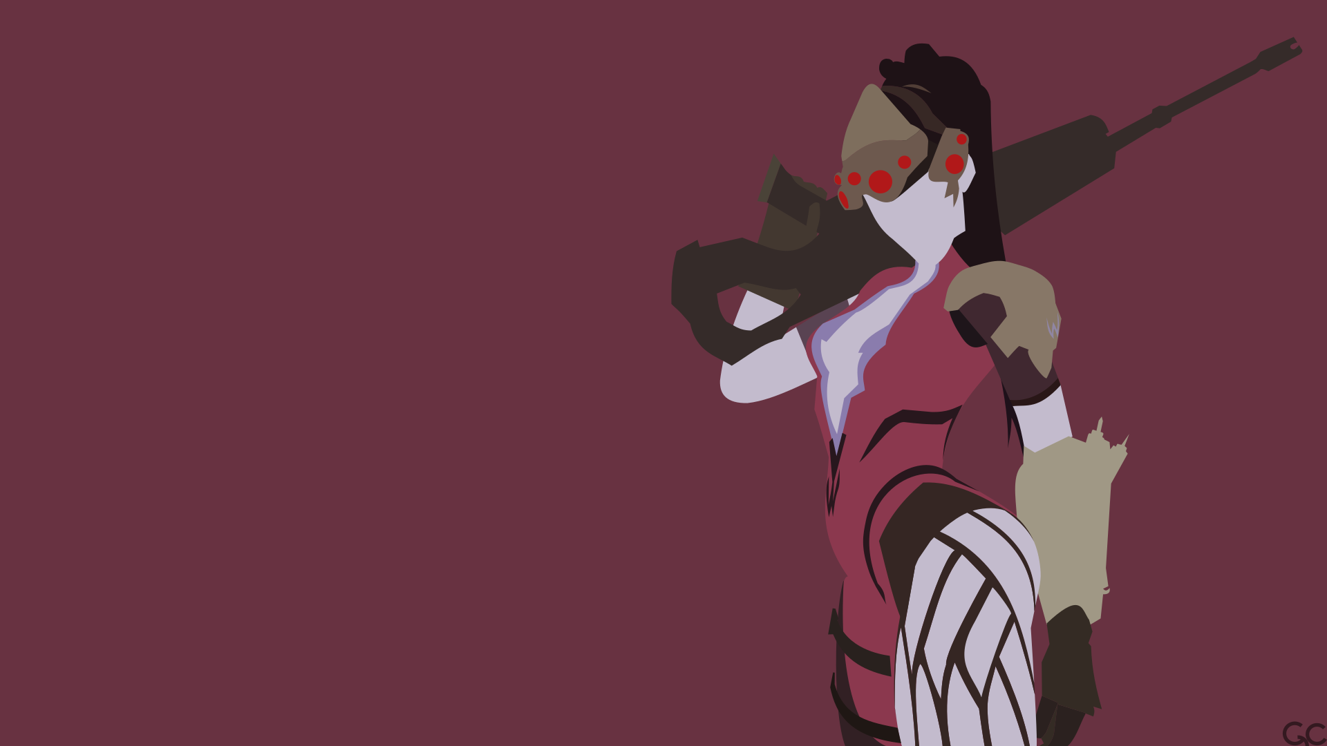 Minimalist widowmaker by garnet638 on deviantart for Deviantart minimal wallpaper