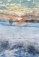 Auringonlasku, Dec 2018 by KorsonOraakkeli