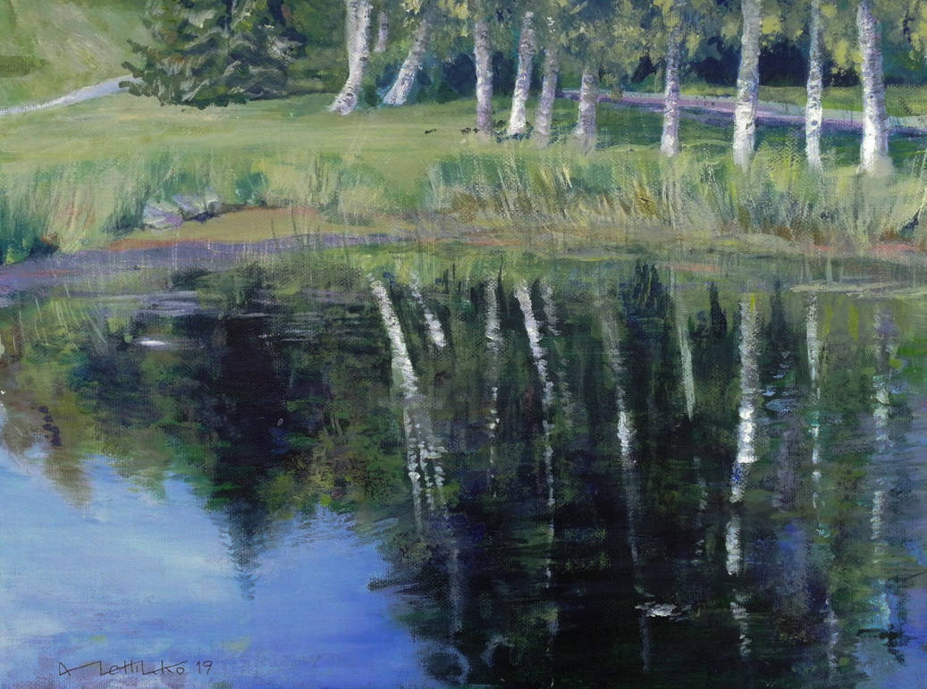 A pond at Haikko Manor by KorsonOraakkeli