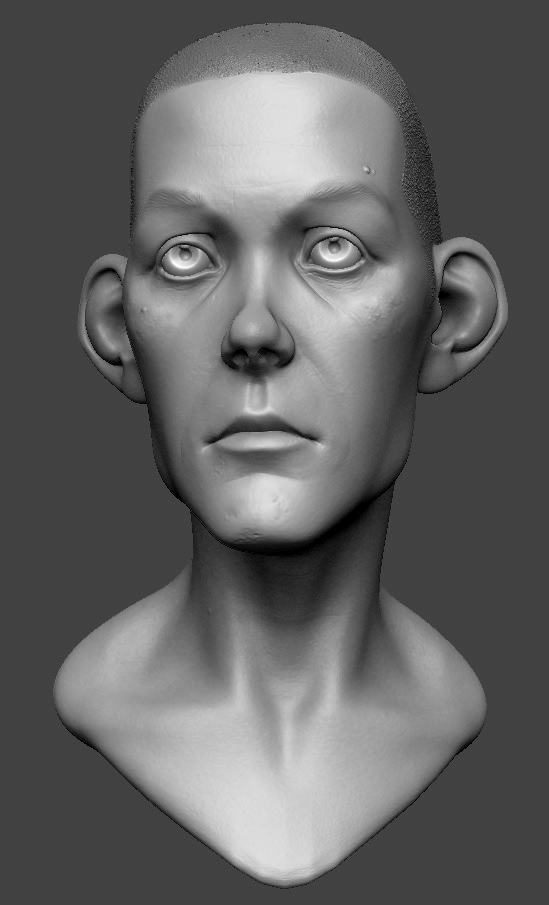 Zbrush Head Sculpt by Grimnor