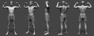 Zbrush Anatomy Study + Timelapse by Grimnor