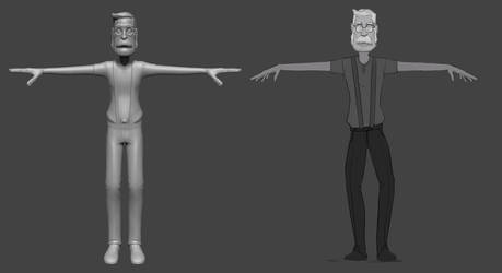 100 Days of Creating a Character - Rough Sculpt