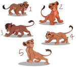 Scar X Zira cub adopts OPEN