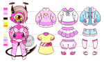 [Custom] Small Paperdoll outfits for blackorb00 by Mima-Adopts