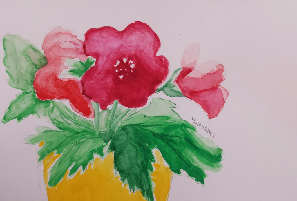 my first watercolor painting by mashinabi on deviantart