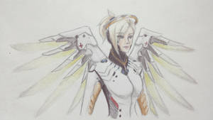 Mercy (Overwatch) Traditional Fanart