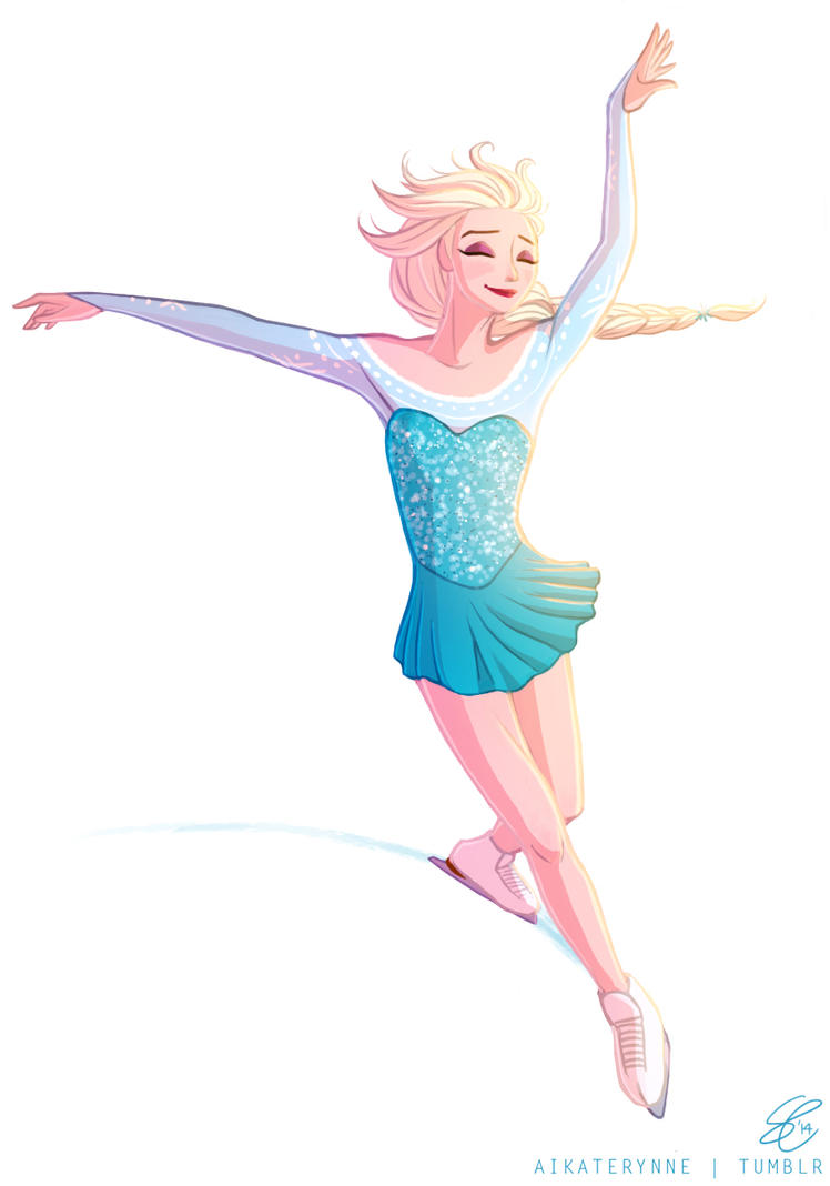 How to draw figure skating - YouTube  |Drawing Ice Skater