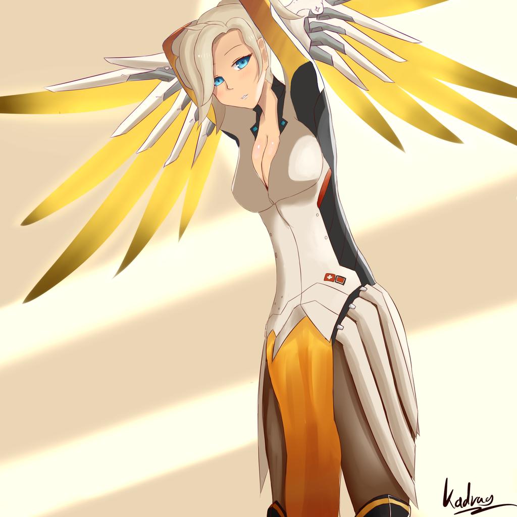 Mercy Overwatch By Kadrag Watch Fan Art Digital Drawings Other