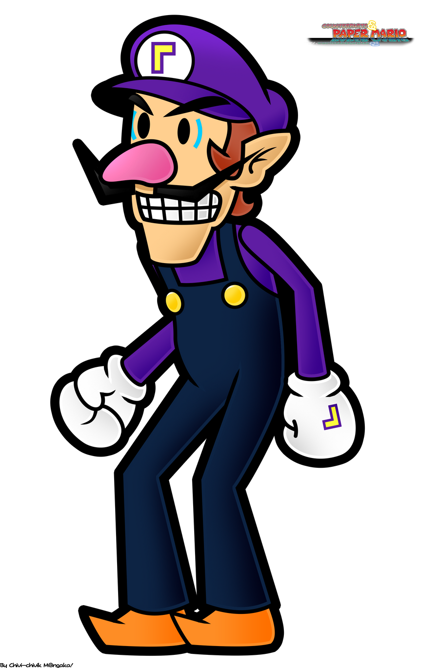 CPMWaluigi Fan artwork By Chivi chivik On DeviantArt