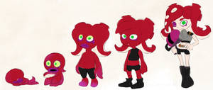 Splatoon_Octolings grow-up progression by Chivi-chivik
