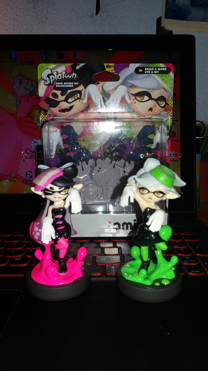 Squid Sisters Amiibo by Chivi-chivik