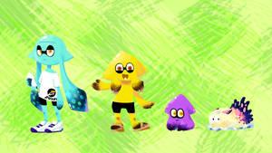 Splatoon_Secondary OCs: Kukomi's Family by Chivi-chivik