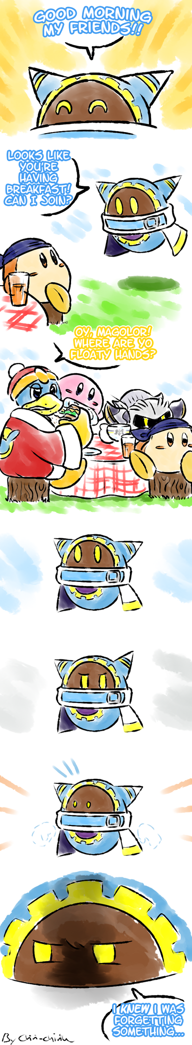 Kirby_Detachable and forgettable by Chivi-chivik