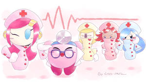 Kirby_The nurses are in by Chivi-chivik