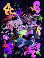 Splatoon 2_Splatoween Off the Hook by Chivi-chivik