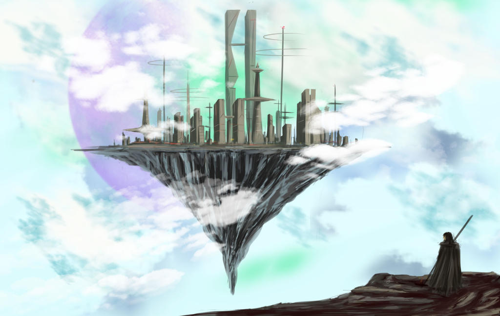 Sci-fi Floating Island by FantasyOwlLegend on DeviantArt