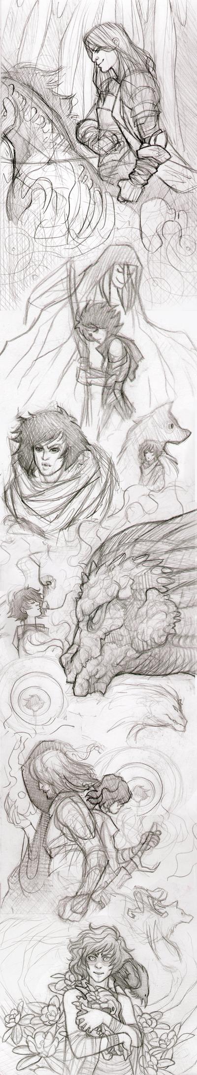 Sketch Dump 2 by GoddessVirage
