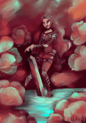 Girl With Sword by sofie-arts
