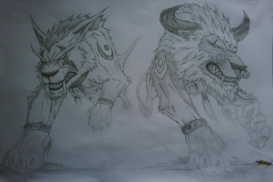 Wow Druid Tattoo Druid Cats WoW by RensaRaion