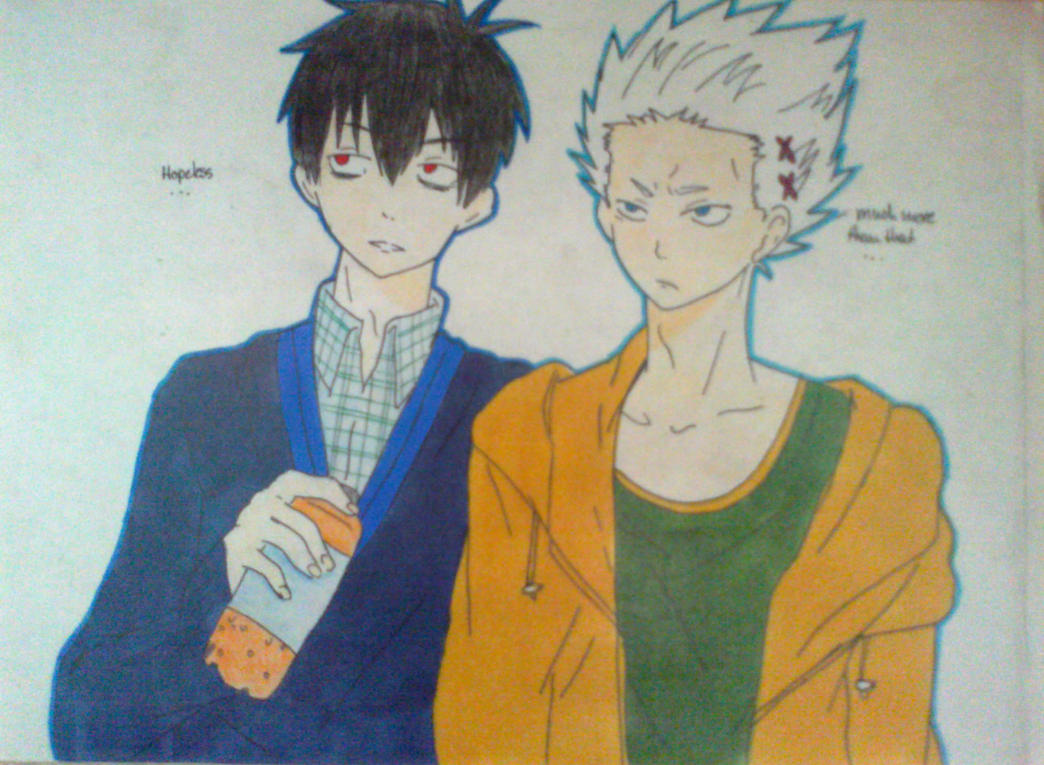 Blood Lad Staz and Wolf AU \'Hopeless...\' by Mahiro12 on DeviantArt