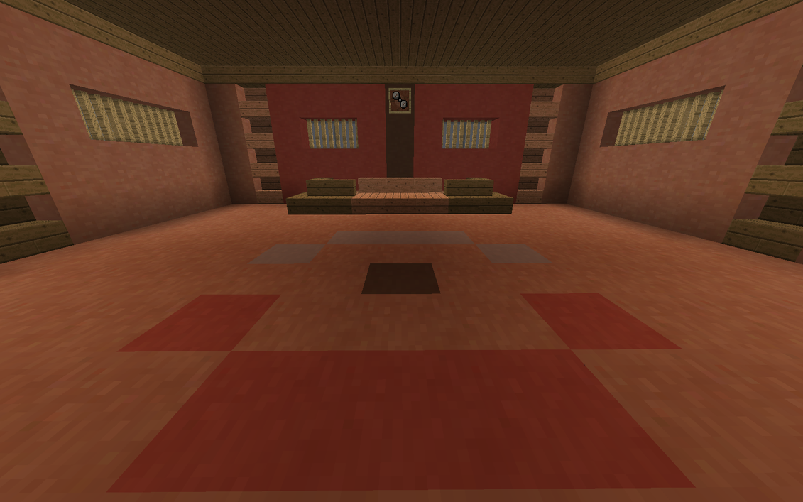 Minecraft norman s gym battle room front by