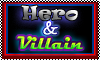Stamp: I love Heros and Villains by StephDragonness