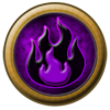 Element Orb: Fire ~ Black and Purple by StephDragonness