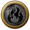 Element Orb: Fire - Black by StephDragonness