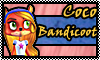 stamp: Coco bandicoot ~crash of the titans by StephDragonness