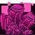 Pixel: Pixel Crystal Gems~Rhodolite Garnet by StephDragonness