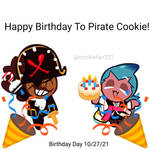 Happy Birthday To Pirate Cookie!