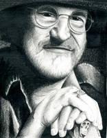 Terry Pratchett by Corleinne by a-discworld-guild