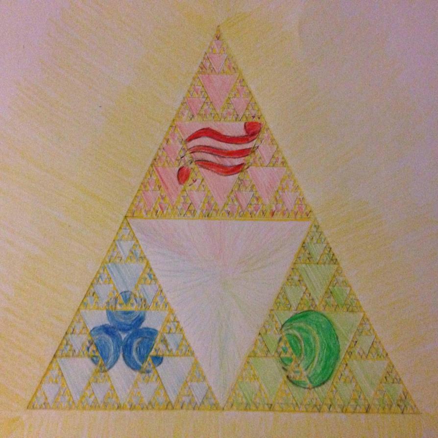 Sierpinski's Triforce by Droid24747
