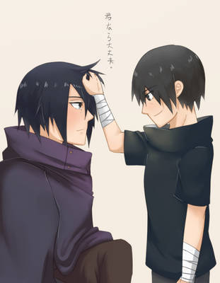 Uchiha Itachi and Sasuke by luotai