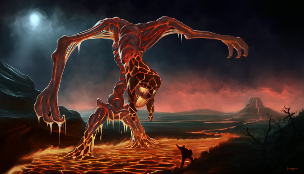 Fire Colossus by thewoox