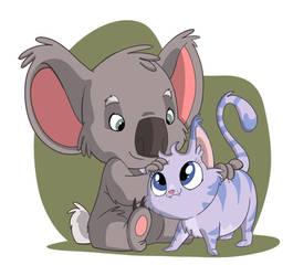 Koala and Kitty by Sibsy