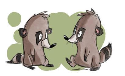 Raccoon by Sibsy