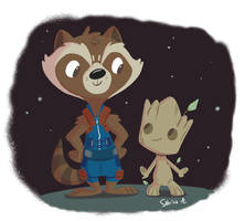 Rocket and Groot