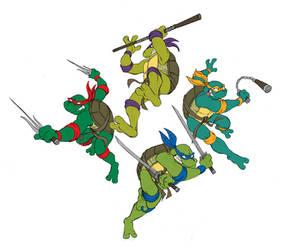 Arcade Turtles by Sibsy