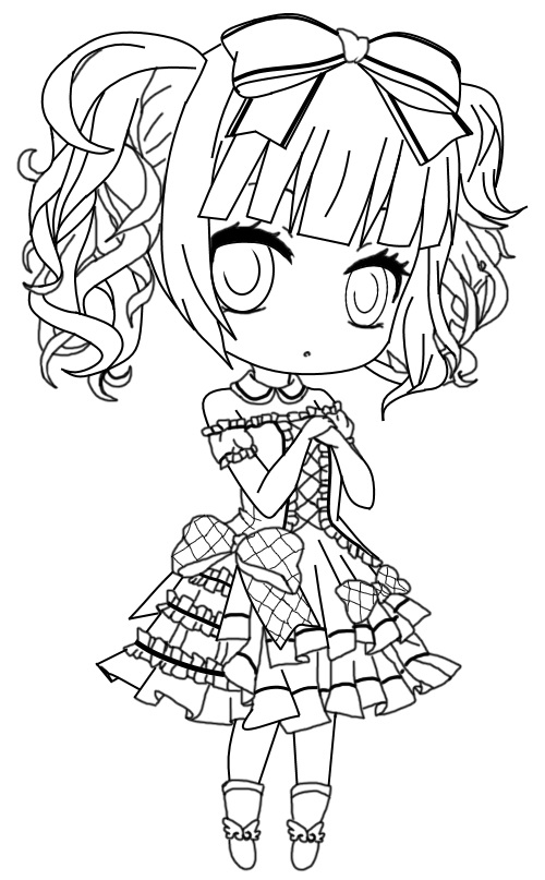 Gothic Chibi Pages Coloring Pages