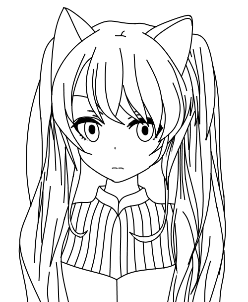 Neko Lineart : Neko beauty lineart by salamandershadow on deviantart