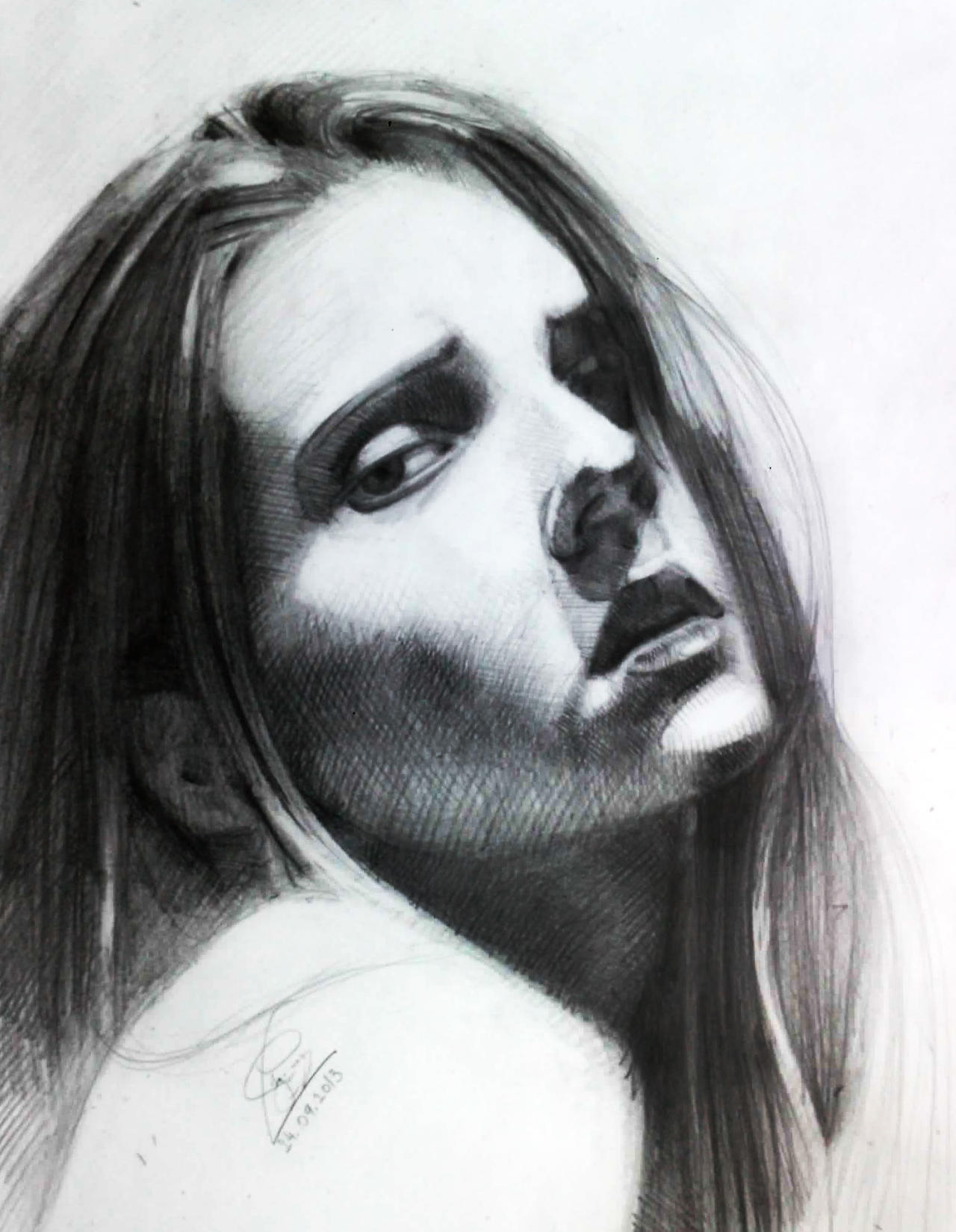 Girl of Charcoal (1) by Vangega