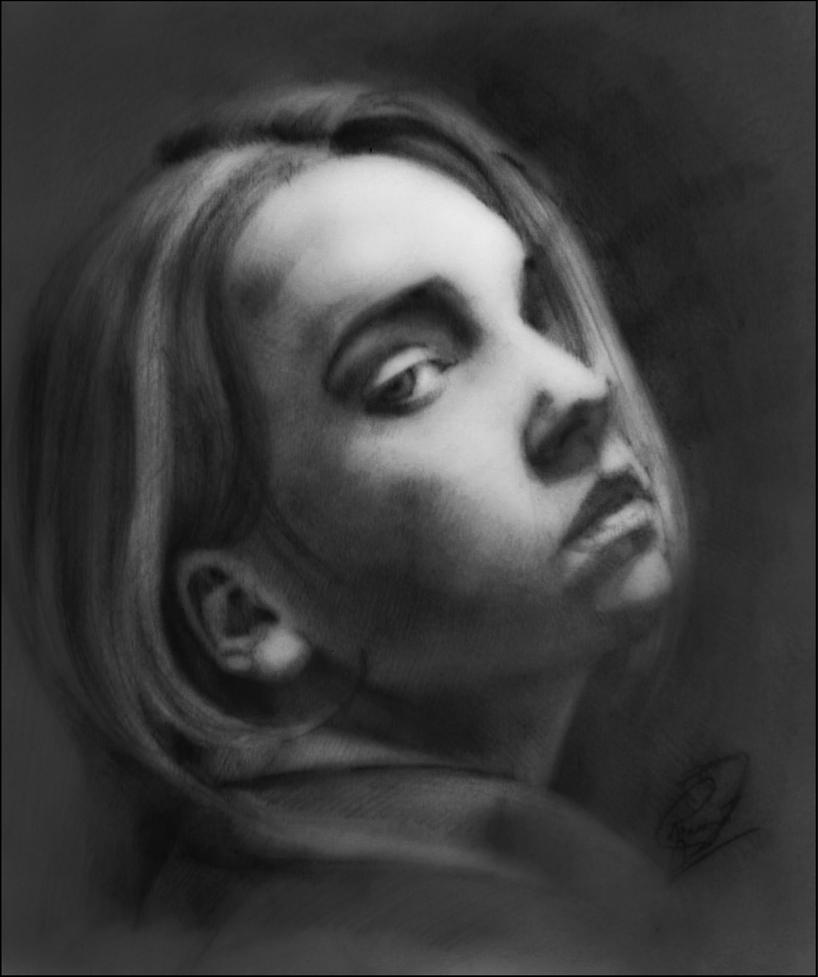 Girl of Charcoal (2) by Vangega