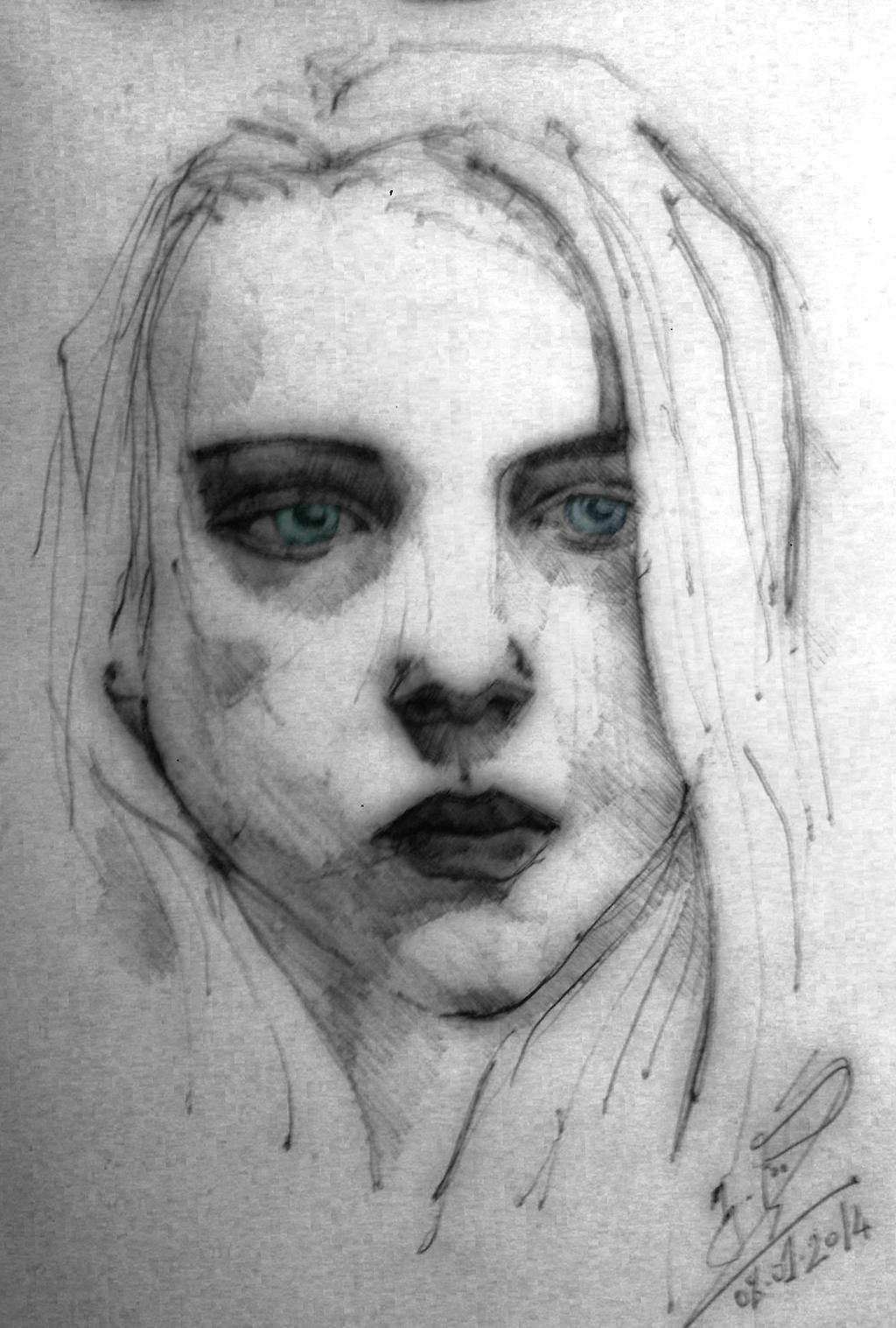 Girl of Charcoal (3) by Vangega